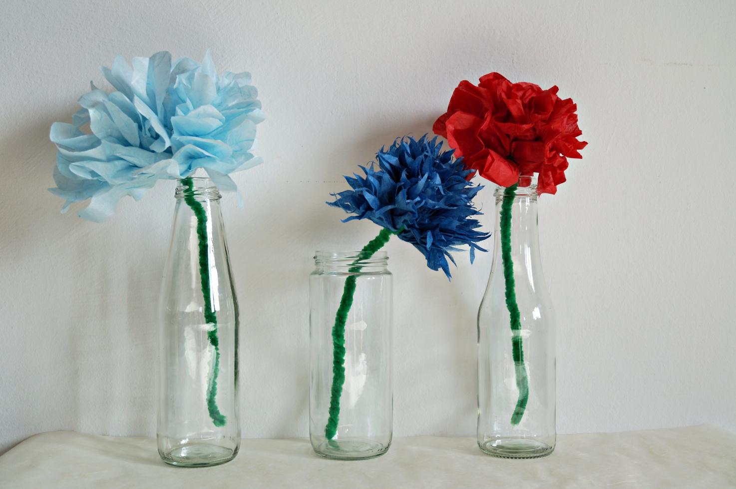 Blüten aus Seidenpapier selber machen